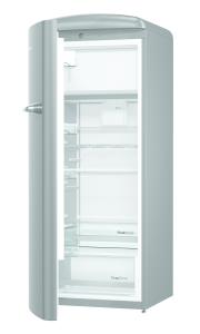 Gorenje ORB 153 X-L A+++, B 60 cm , 4* Gefrierfach, IonAir Dynamic Cooling, FreshZone, TA links, silber