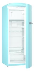 Gorenje ORB 153 BL A+++, B 60 cm , 4* Gefrierfach, IonAir Dynamic Cooling, FreshZone, TA rechts, baby blue