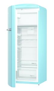 Gorenje ORB 153 BL-L A+++, B 60 cm , 4* Gefrierfach, IonAir Dynamic Cooling, FreshZone, TA links, baby blue