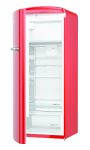 Gorenje ORB 153 RD-L A+++, B 60 cm , 4* Gefrierfach, IonAir Dynamic Cooling, FreshZone, TA links, fire red