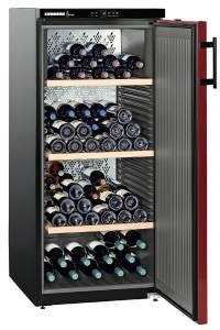 Liebherr WKr 3211-21 Vinothek A++ Schwarz/Bordeauxrot