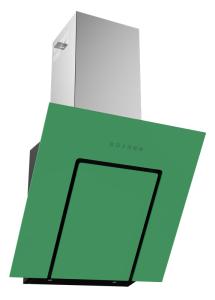 Termikel Köln 60 GR 60 cm EEK: C Vertikale Glas-Wandhaube grünes Glas