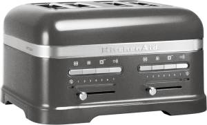 KitchenAid Artisan 5 KMT 4205 EMS 4-Scheiben-Toaster Medaillon-Silber