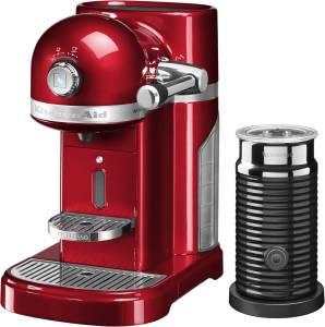 KitchenAid Artisan 5 KES 0504 ECA /4 Nespresso liebesapfelrot inkl. Milchaufschäumer