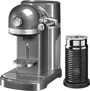 KitchenAid Artisan 5 KES 0504 EMS /4 Nespresso medallion silber inkl. Milchaufschäumer