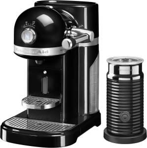KitchenAid Artisan 5 KES 0504 EOB /4 Nespresso onyx schwarz inkl. Milchaufschäumer