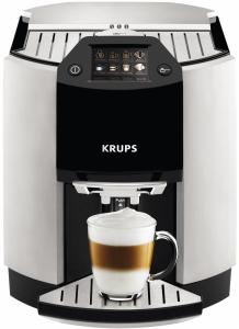 Krups EA 9010 edelstahl/schwarz/alum iniumOne-Touch-Cappuccino