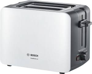 Bosch TAT 6 A 111 ComfortLine Kompakt-Toaster weiß/ dunkelgrau