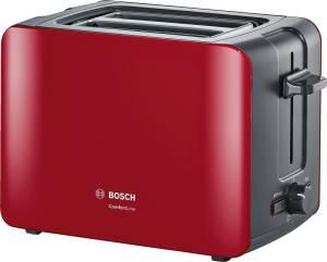 Bosch TAT 6 A 114 ComfortLine Kompakt-Toaster rot / anthrazit