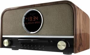 Soundmaster NR 850 Nostalgie Radio braun DAB+ mit Bluetooth u. CD