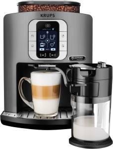 Krups EA 860 E Latte Smart Kaffeevollautomat Titanium/Schwarz