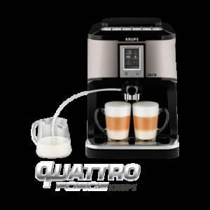 Krups EA 880 E Quattro Force Kaffeevollautomat Silber/Schwarz