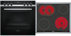 Siemens EQ 521 KA 00 Herd-Set cookControl10 Glaskeramik 60 cm Edelstahlrahmen