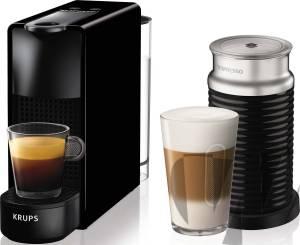 Krups - XN1118 Nespresso Essenza Mini + Aeroccino schwarz