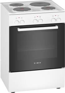 Bosch HQA 050020 Elektro-Standherd 60 cm weiß Masse-Kochplatten