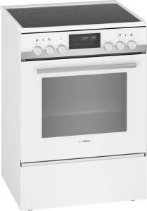 Siemens HK 9 S 7 R 220 Standherd Glaskeramik 3D-Heißluft weiß Pyrolyse60 cm