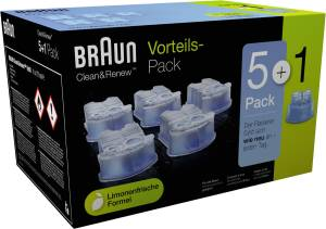 Braun CCR Reinigungskartuschen (5+1 Stk.) Vorteils-Pack 5+1