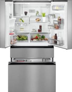 AEG RMB 96726 VXA++ French-Door NoFrost Eis- und Wasserspender Festwasseranschluss Edelstahltürfronten