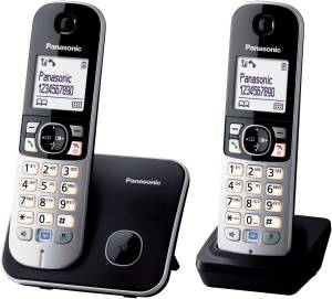 Panasonic - KX-TG 6812 GB  schwarz