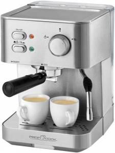 Proficook PC-ES 1109 Espressoautomat Siebträger Tassenwärmer