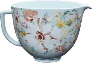 KitchenAid 5 KSM 2 CB 5 PWG Keramikschüssel Withe Gardenia