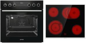 Gorenje Black Set IIIHerdset EEK: A tiefschwarz 60 cm Glaskeramik