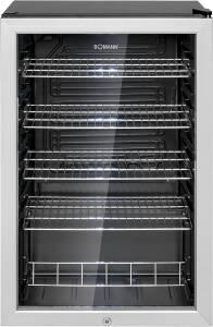 Bomann KSG 7283.1 schwarz Glastür-Kühlschrank