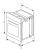 Termikel BO 6463 W EEK: A2-fach Teleskopauszug Glas-Front weiß