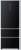 Haier A 3 FE 742 CGBJ A++ NoFrost Glasfront in schwarz