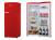 Amica VKSR 354 150 RA++ chili red Retro Design Vollraum-Kühlschrank