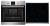 AEG BPS 331 Backofenset Pyrolyse Versenkknebel Glaskeramik 60 cm Edelstahl Touch Control
