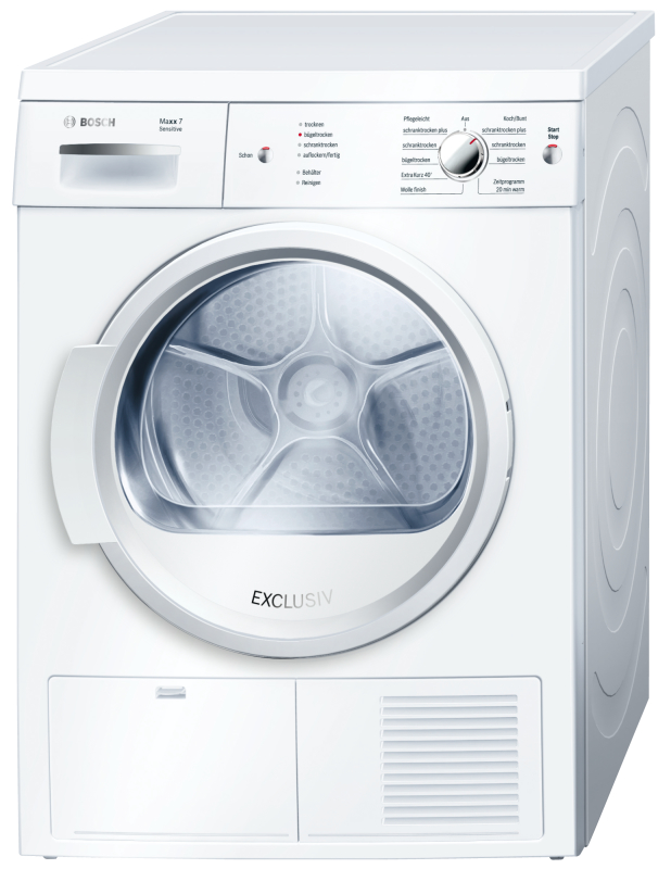 bosch wte 86185 maxx 7 sensitive edelstahltrommel exclusiv waschen trocknen trockner kondensation. Black Bedroom Furniture Sets. Home Design Ideas