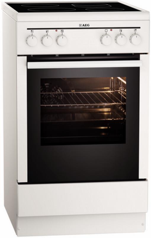 aeg competence 40095 vd wn standherd wei 50cm breit glaskeramik ebay. Black Bedroom Furniture Sets. Home Design Ideas