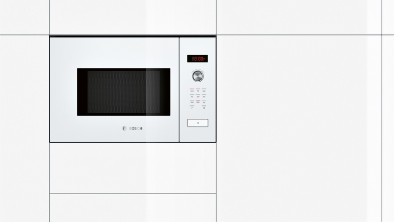 bosch hmt 75 m 624 einbau mikrowelle wei kochen backen mikrowellen. Black Bedroom Furniture Sets. Home Design Ideas