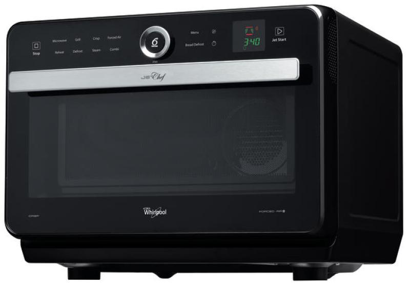 whirlpool jt 469 bl schwarz mikrowelle mit grill und hei luft 33 liter garraum kochen backen. Black Bedroom Furniture Sets. Home Design Ideas