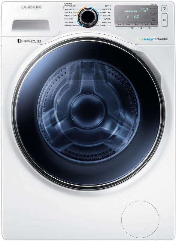 samsung wd 90 j 7400 gw waschtrockner 9 kg waschen 6 kg trocknen waschen trocknen waschtrockner. Black Bedroom Furniture Sets. Home Design Ideas