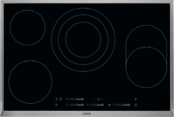 aeg hk 854870 xb rapid kochfeld autark glaskeramik 80 cm. Black Bedroom Furniture Sets. Home Design Ideas