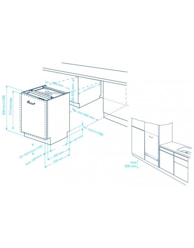 beko din 28330 a besteckschublade vollintegrierbar einbau sp ler vollintegrierbar. Black Bedroom Furniture Sets. Home Design Ideas