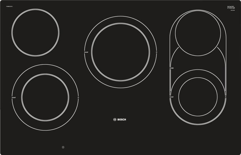 bosch pkm 801 dp 1 d glaskeramik autark 80 cm kochfelder herdgebunden. Black Bedroom Furniture Sets. Home Design Ideas