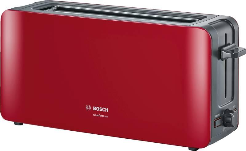 bosch tat 6 a 004 comfortline langschlitz toaster rot anthrazit elektrokleinger te toaster. Black Bedroom Furniture Sets. Home Design Ideas