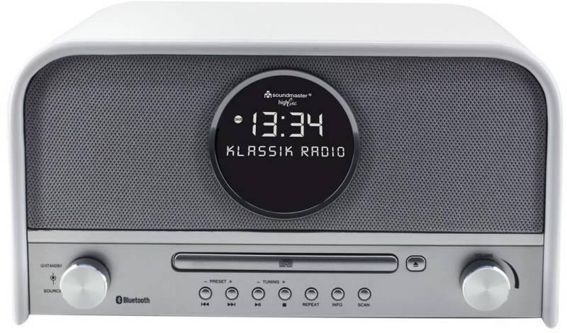 soundmaster nr 850 wei nostalgie radio dab mit bluetooth. Black Bedroom Furniture Sets. Home Design Ideas