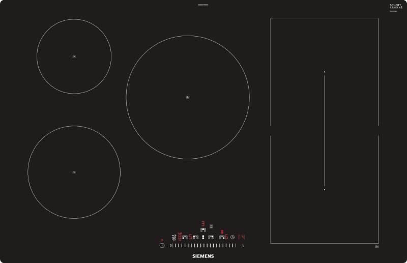 siemens ed 801 fwb 1 e induktion 80 cm touchslider fl chenb ndig kochfelder autark induktion. Black Bedroom Furniture Sets. Home Design Ideas