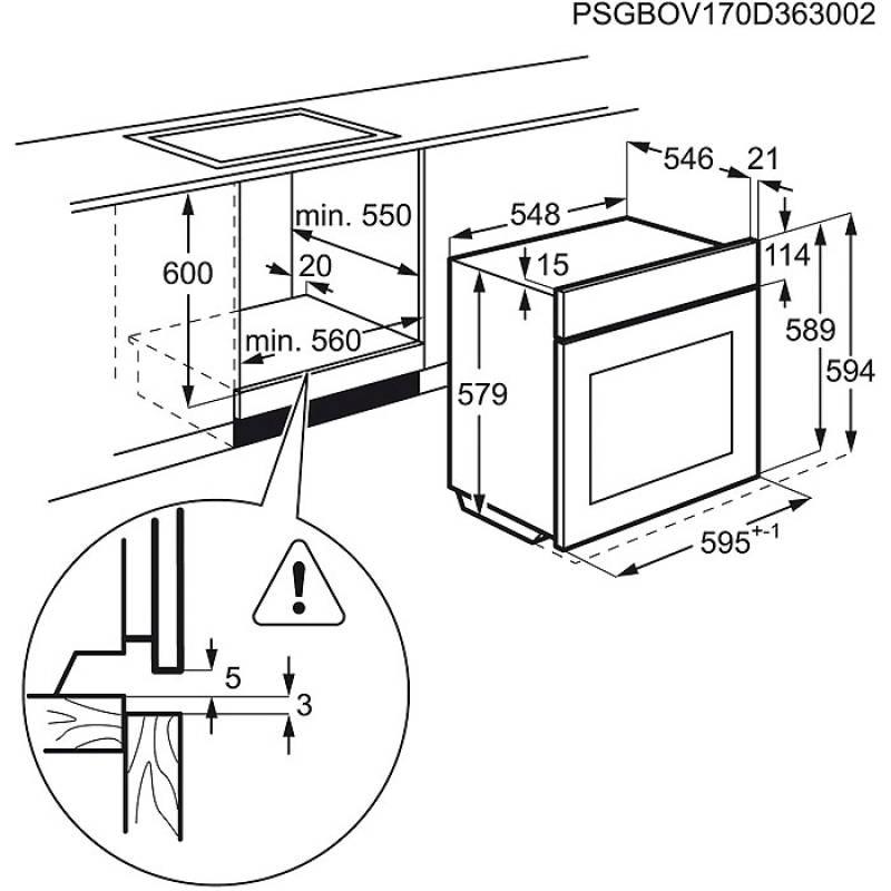 aeg beb 356 backofen set autark eek a steambake 80 cm. Black Bedroom Furniture Sets. Home Design Ideas