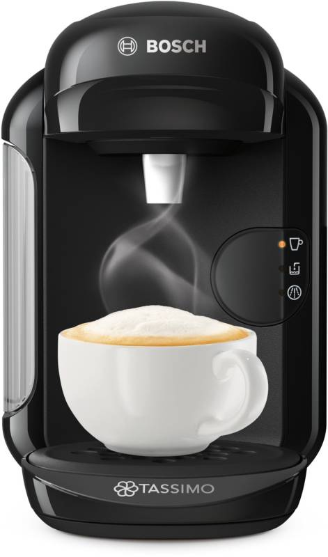 bosch tas 1402 tassimo vivy 2 real black kaffee tee espresso kaffeepadautomaten. Black Bedroom Furniture Sets. Home Design Ideas