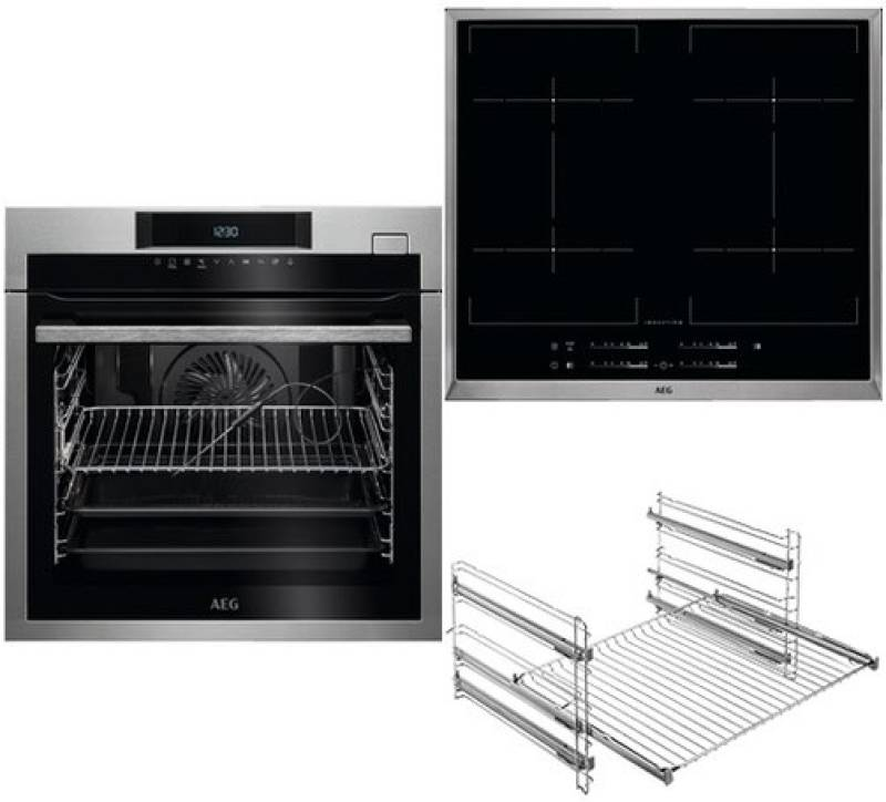 aeg aeg 130 bcmb a backofen set autark steamcrisp pyrolyse dampfunterst tzung induktion. Black Bedroom Furniture Sets. Home Design Ideas