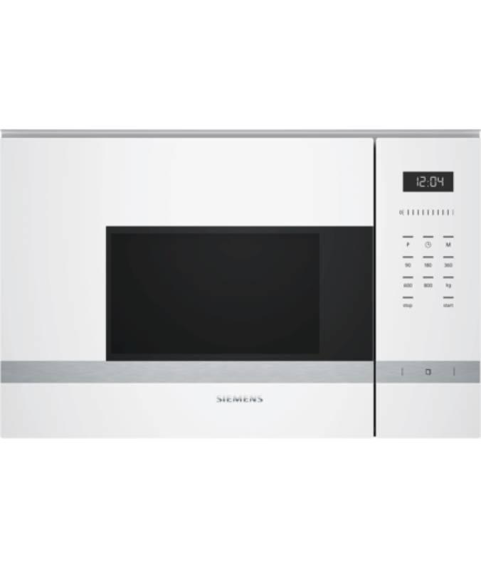 Siemens bf 525 lmw 0 einbau mikrowelle 800 w weiss kochen for Einbau mikrowelle siemens