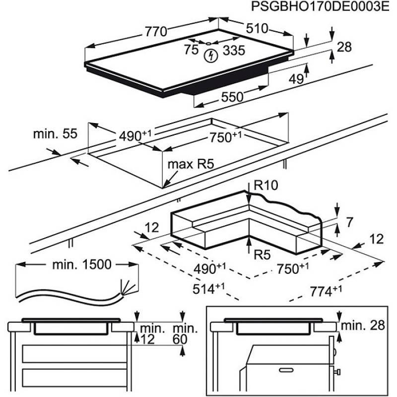 aeg ikb 84431 ib induktion autark 80 cm maxisense plus fl chenb ndiger einbau kochfelder autark. Black Bedroom Furniture Sets. Home Design Ideas