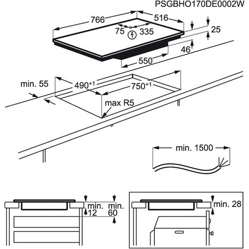 aeg ike 84445 xb induktion 80 cm bridge funktion. Black Bedroom Furniture Sets. Home Design Ideas