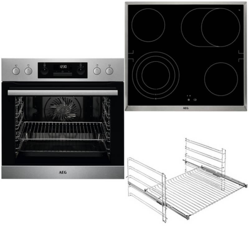 aeg epb 352 1 herd set a pyrolyse surroundcook glaskeramik 60 cm edelstahl einbauherd sets. Black Bedroom Furniture Sets. Home Design Ideas