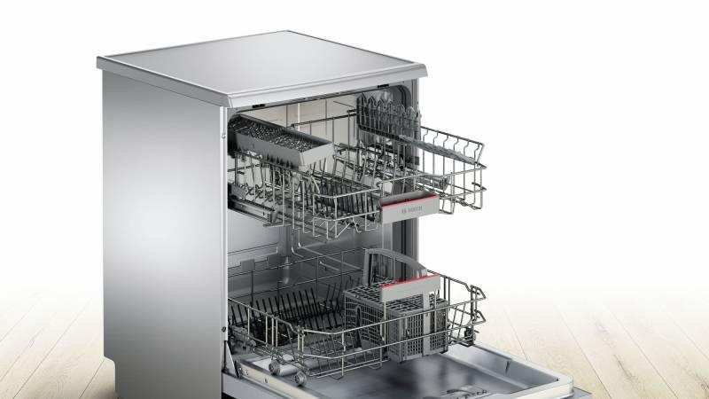 Waschtrockner Inox : Bosch sms gi e a cm silver inox geschirrspüler stand spüler